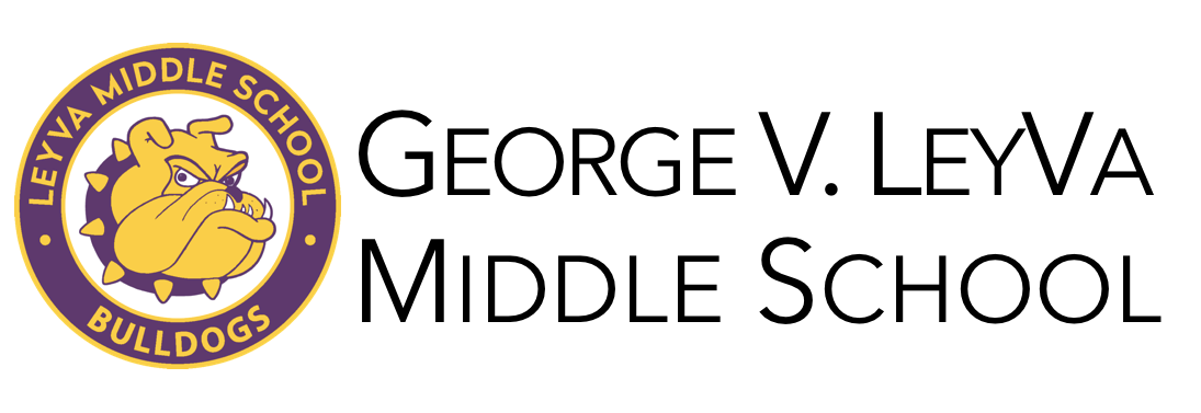 George V. Leyva Middle School & Bulldog Tech Logo - go home page